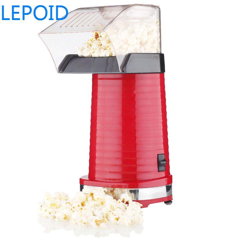 Lepoid Portable Electric Popcorn Maker Home Hot Air Pop Corn Making Machine Kitchen Desktop Mini Diy Pipoqueira Eletrica