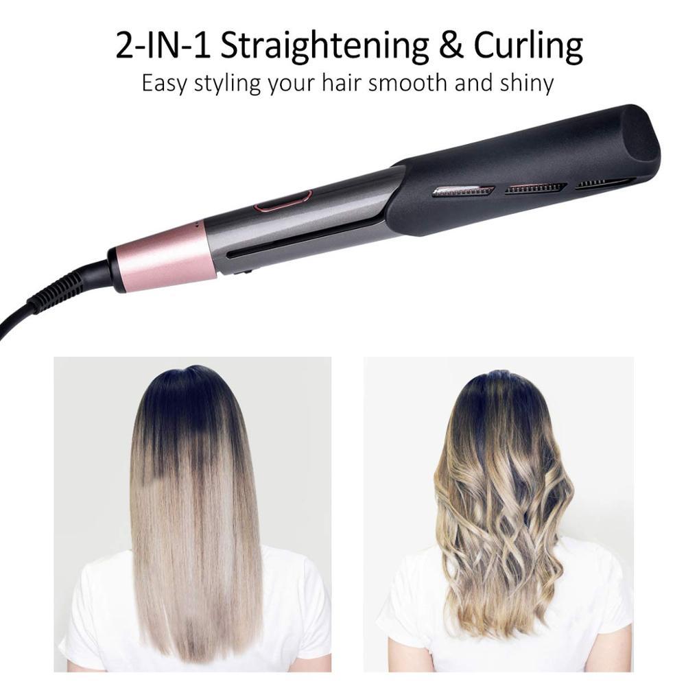ferro clara cabelo estilista rolos espiral