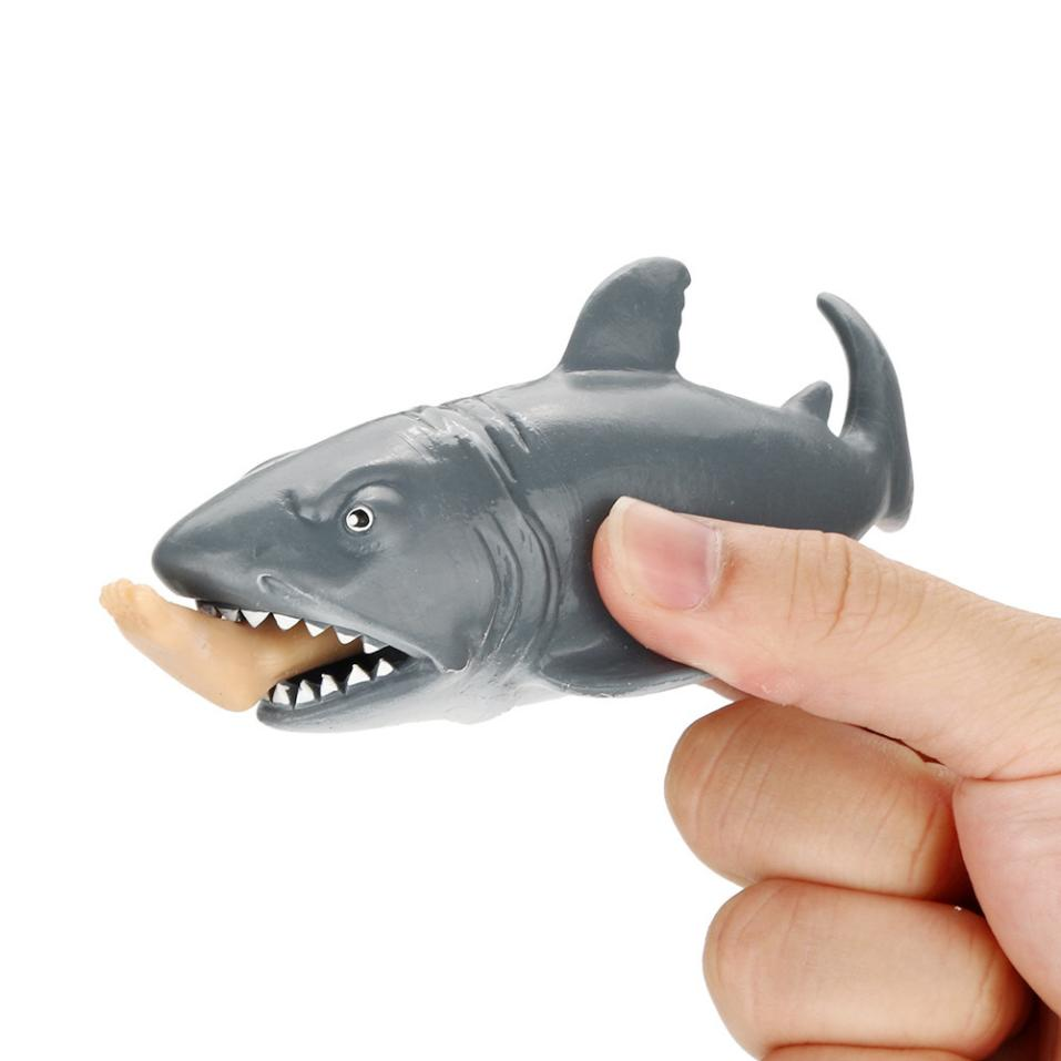 Squeeze Toy Shark Squishy Stress Ball Anti-stress Alternative Humorous Light Hearted Tricks Squish Squishi 12cm