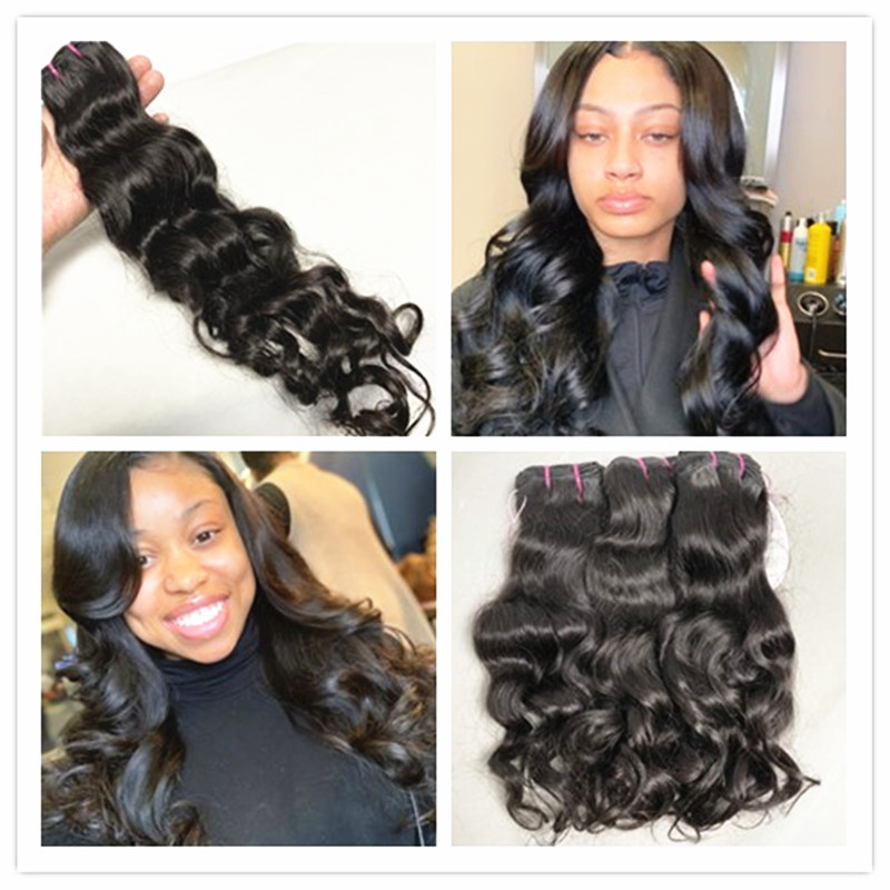 Mayflower Original Raw Virgin Indian Temple Hair Natural Wavy Not By Steam Process Silky Luster Soft Bouncy Wavy 12