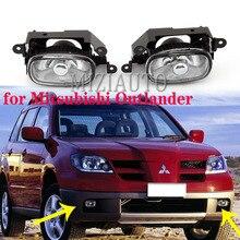 1pcs Front Fog Light DRL Daytime Running Light for Mitsubishi Outlander 2003 2004 2005 2006 2007 Halogen Bulb Front Bumper Lamp