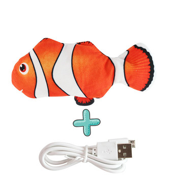 Moving Fish Cat Toy Electronic Flopping Cat Kicker Fish Toy Catnip Fish Toys for Cats Pet Supplies Funny Chew Toy for Indoor Cat 12