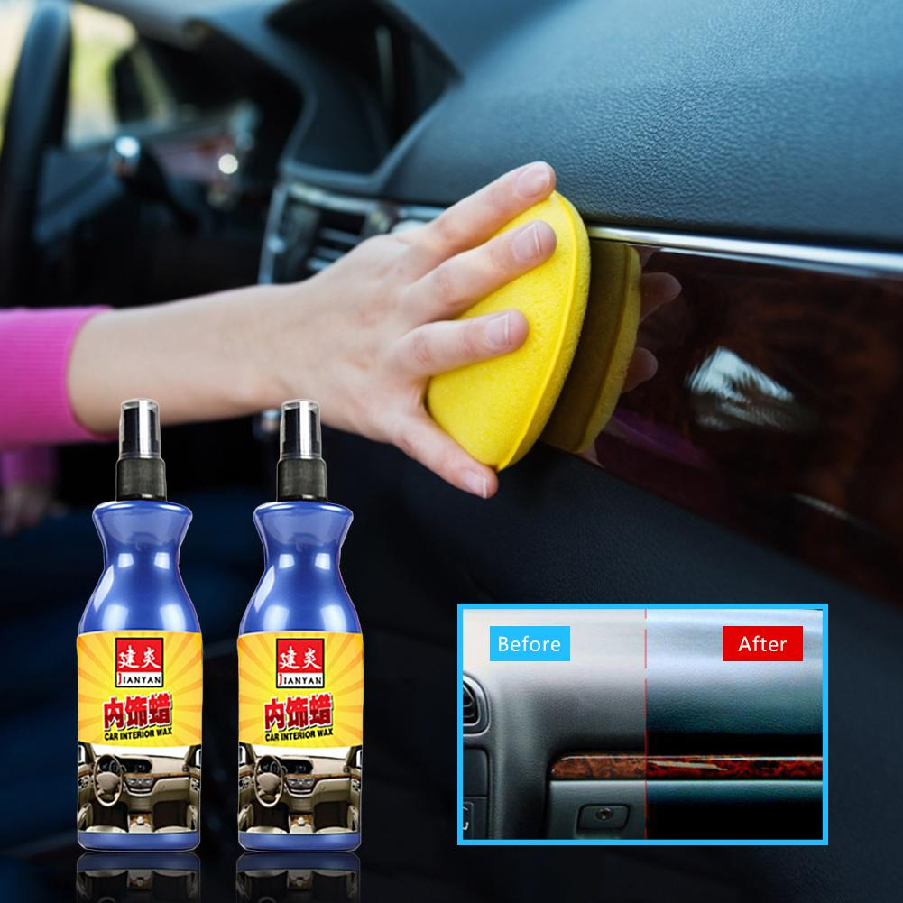 100ml Car Polish Wax Leather Plastic Parts Retreading Agent Wax  Automotive Interior Cleaner Tire Wax Paint Maintenance Tools
