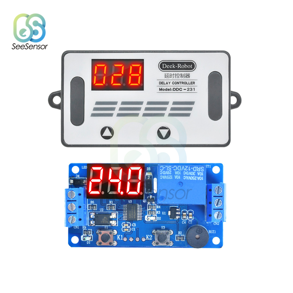 DDC 231 DC 12V LED Digital Delay Controller Time Delay Relay Module Timer Relay Time Control Switch PLC Automation Car Buzzer in Relays from Home Improvement