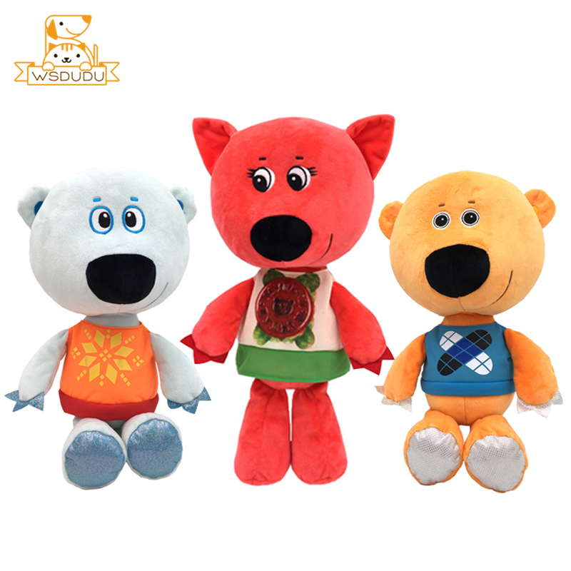 Cute Mimi BeBe Bears Franny Bjorn Bucky Russian Cartoon Plush Stuffed Toys Cute Animals Anime Kawaii Dolls For Child Baby Gifts