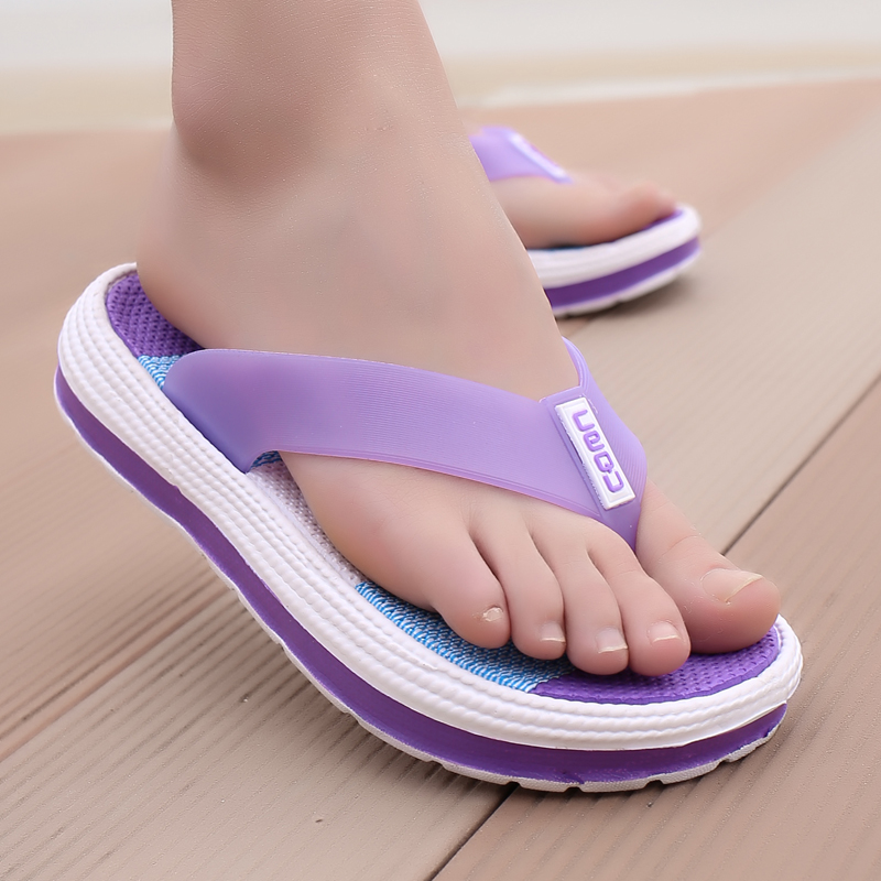 Summer Women Flip Flops Women's Slippers Casual Stripe 2020 Female Comfortable Footwear Ladies Soft Woman Durable Beach Shoes