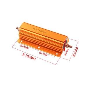200W de Alumínio Shell Power Metal Caso Wirewound Resistor 0.1 ~ 1K 0.15 0.2 0.5 1 1.5 2 6 8 10 15 1 20 100 150 200 300 400 K ohm