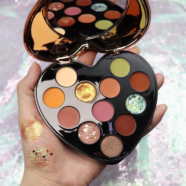 NOVO 12 Color Beauty Glazed Professional Soft Glam Matte Eyeshadow Glitter Eye Shadow Palette Long Lasting Makeup Eyeshadow