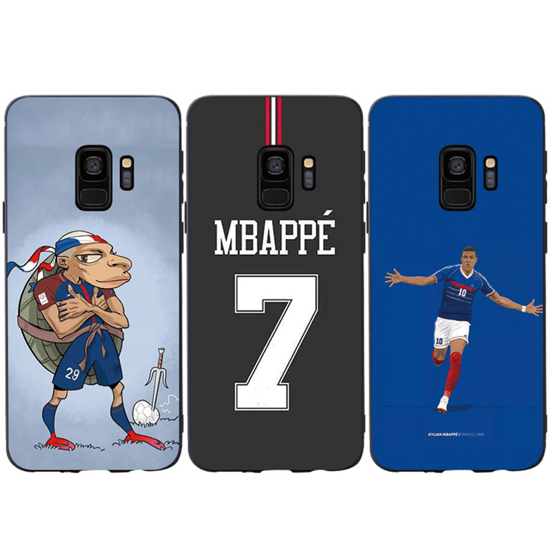 Football Star Mbappe Jersey Silicone Phone Case Cover For Samsung Galaxy S6 S7 edge S8 plus S9 plus S10 plus e lite Soft Case image