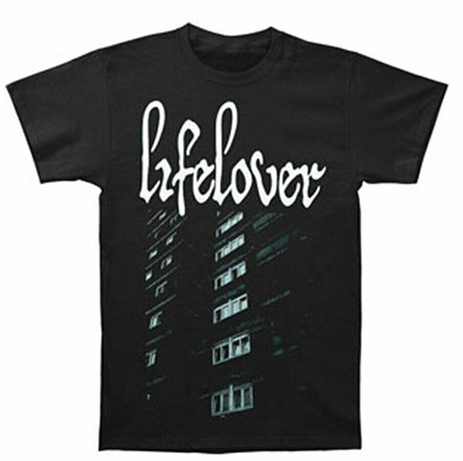 Lifelover Men'S Lifelover T Shirt Black Loose Cotton T Shirts For Men Cool Tops T Shirts