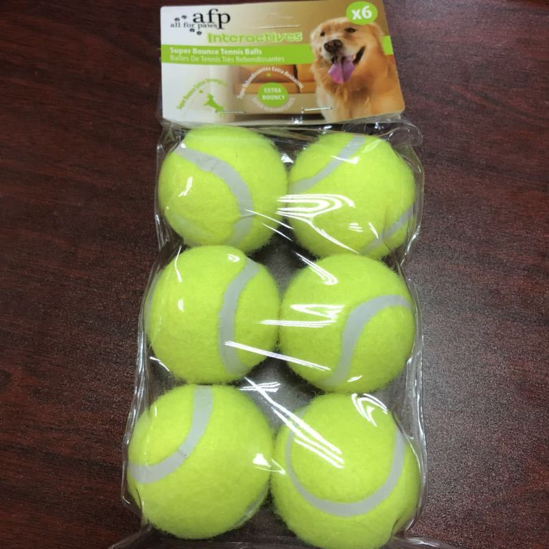 6pcs Pack Pet Tennis Machine Dog