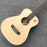 2020 new 34 mini travel spruce top acoustic guitar,multiple sign,MAHOGANY back and side,,fishman,free shipping