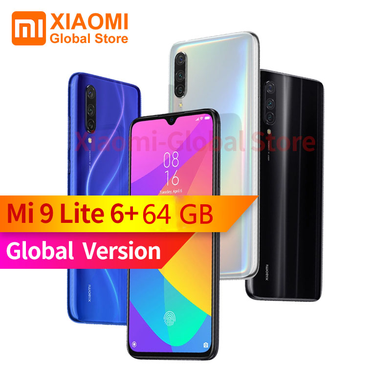 Global Version Xiaomi Mi 9 Lite 6GB RAM 64GB ROM 6.39 Inch NFC Mobile Phone Snapdragon 710 Quick Charging 4030mAh SmartPhone