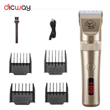 Dicway Dog Clipper Professional Grooming Rechargeable Pet Hair Trimmer Kit Set Cat Hair Cutting Machine Clippers For Animals