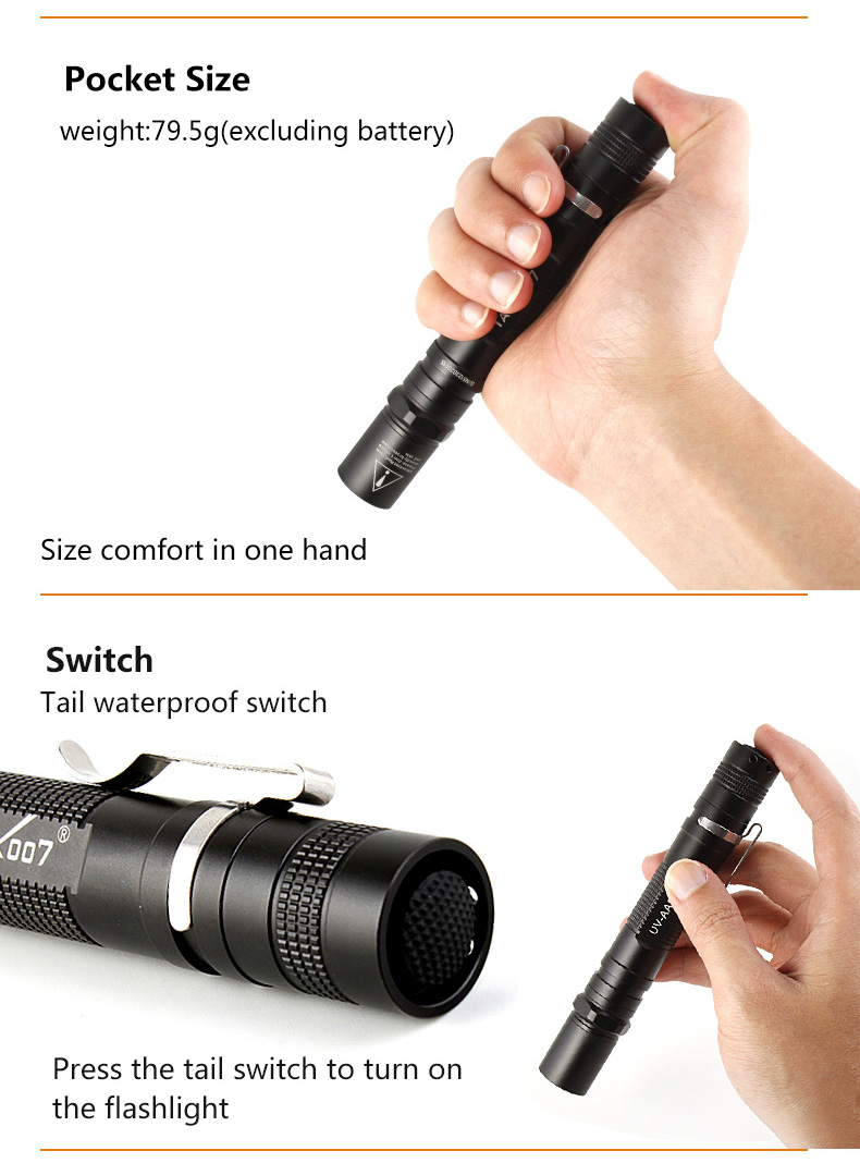 Tank007 UV-AA02 poderosa 365nm uv lanterna led,
