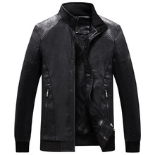 Men Leather Suede Jacket Fashion Motorcycle Velvet PU Mens Coats Bomber Jackets Outerwear Faux Coat Clothing New