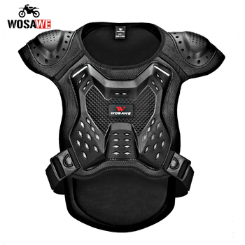 WOSAWE Motorcycle Armor Vest Chest Back Support Body Protective Gear Snowboard Motocross Racing Skateboard Armor Adult Kids 1