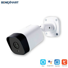 BeneXmart Smart Tuya WiFi CCTV Camera IP65 Waterproof Outdoor Intercome Work with Alexa Echo Show Home Security