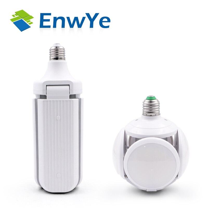 EnwYe Super Bright LED Folding Bulb E27 40W 50W LED Light Football UFO Lamp AC 220V LED Bulb Warehouse Garage Lights