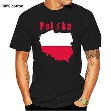 Pulôver personalizado da forma da bandeira da polónia polska tshirts para 90s
