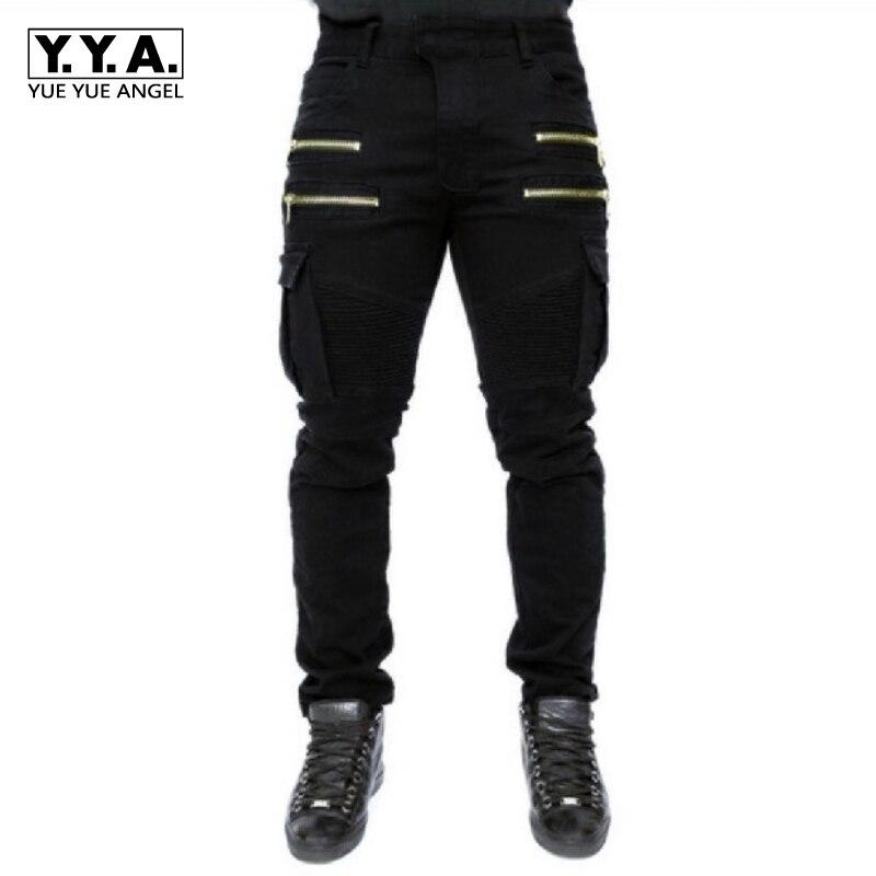 2020 New Dry Mens Pants Pocket Full Length Men Hip Hop Joggers Pants Plus Size Trousers Male Zipper Fold Stretch Jeans Cotton