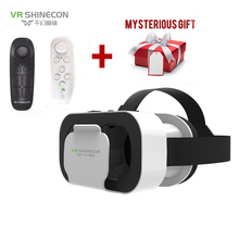 VR SHINECON กล่อง 5 MINI VR แว่นตา 3D แว่นตาเสมือนจริงแว่นตา VR ชุดหูฟังสำหรับ Google กระดาษแข็ง Smartp