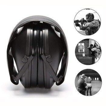 Новинка 2021, Электронные Наушники для стрельбы, уличные спортивные наушники с усилением звука и защитой от шума, складная тактическая Защитная гарнитура для слуха