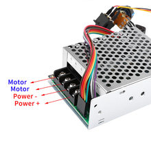 Motor Speed Controller DC 10V-55V CW CCW Reversible Switches with Digit Display Pinpoint Regulator _WK стоимость
