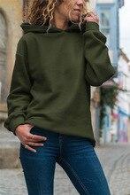 Green Long Sleeve Hoodies Solid Sweatshirts 2019 New Spring Autumn Fashion HoodiesWarm Fleece Coat Hip Hop