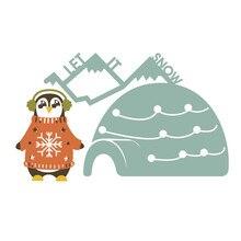 DiyArts Dies Christmas penguin cute Metal Cutting New Card Making Scrapbooking Embossing Cuts Stencil Die
