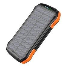 16000mah סולארי נייד כוח בנק מהיר צ י אלחוטי מטען עבור iphone סמסונג powerbank חיצוני סוללה led פנס