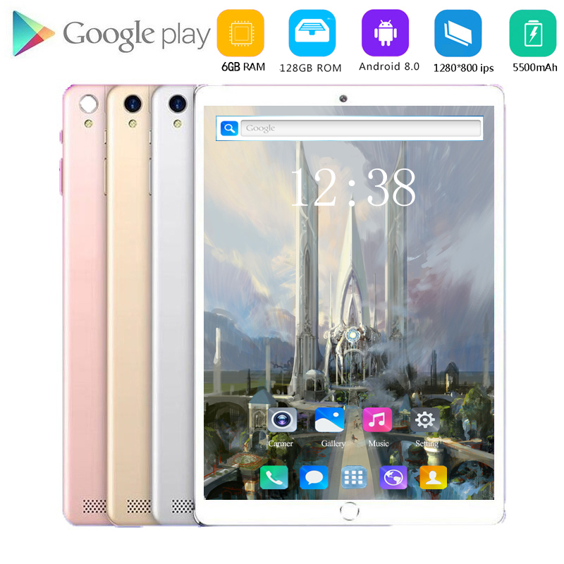 2020 Newest 10 Inch Tablet Android 8.0 Octa Core 8GB RAM 128GB ROM 3G 4G FDD LTE Wifi Bluetooth GPS Phone Call Tablet Pc
