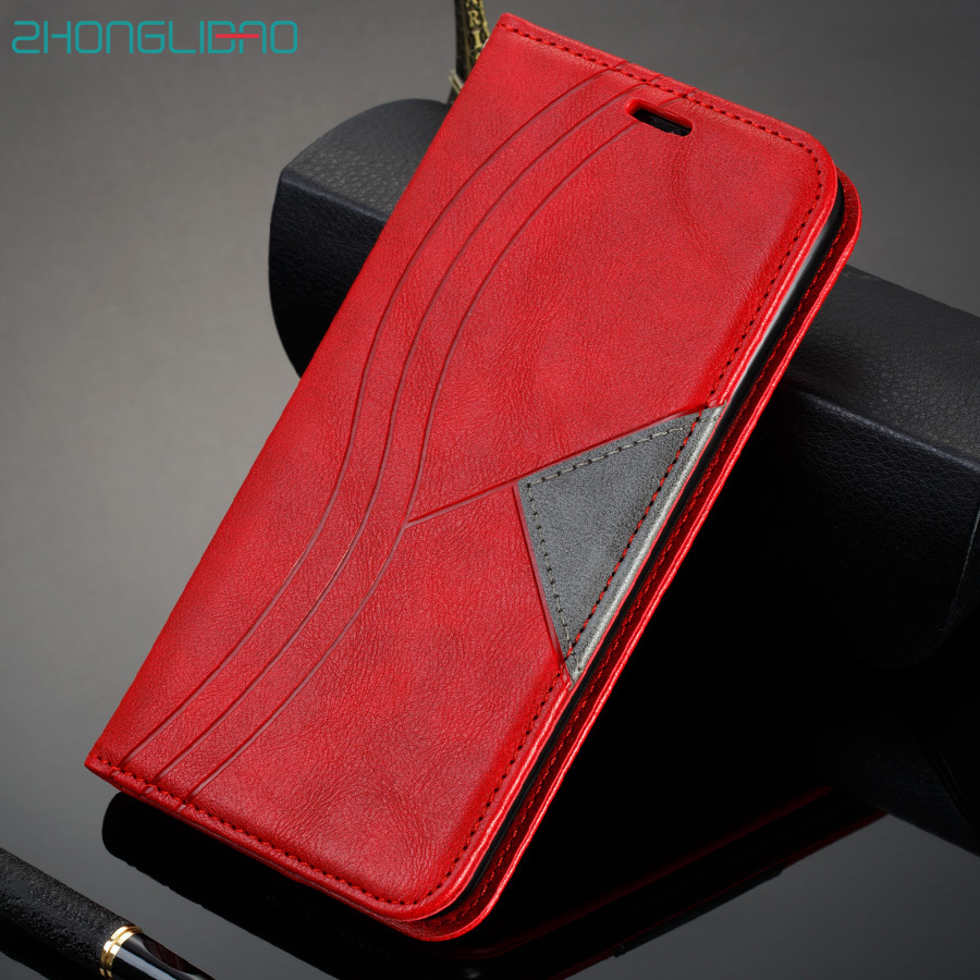 Xiomi k30 K20 9t Pro Magnetic Flip Case for <font><b>Xiaomi</b></font> Redmi Note 9 8 7 Pro 8T 9s 6 6a 7a 8a Leather Wallet Holster Stand Book Cover image