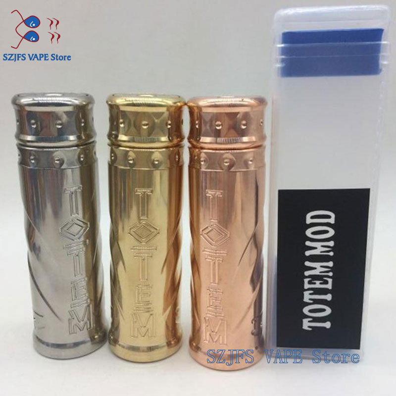 TOTEM Mech MOD 24mm SS Brass Copper 18650 Battery 510 Thread Hybrid Mechanical Mod Vs  THC Tauren Max Mech KING Kong  Gen 2 MOD