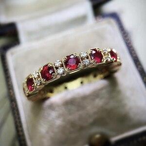 Винтажное позолоченное кольцо в этническом стиле, ретро, микро проложенное, CZ камень, кольца для женщин, панк, готика, вечерние, модные ювели...