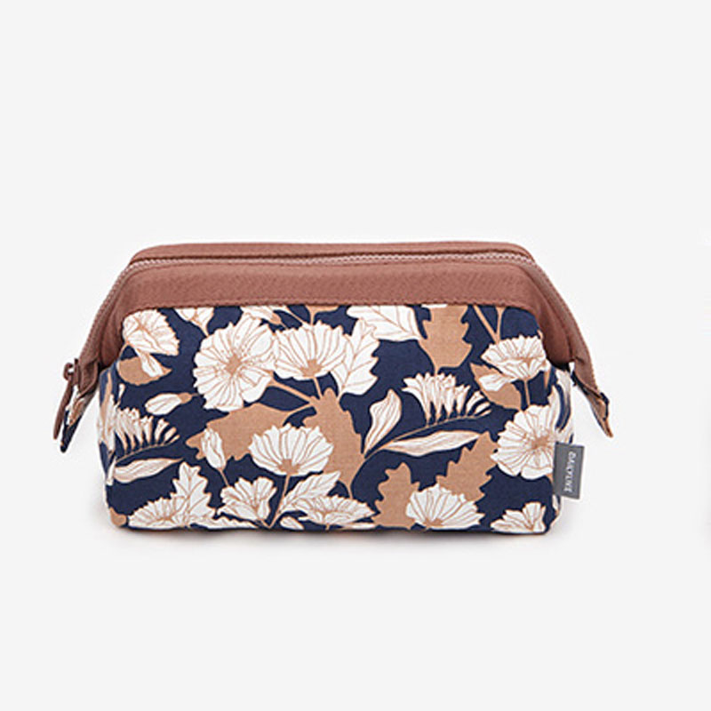 Floral Cute Lady Vanity Case Travel Carry On Make Up Pouch Necessaire Travel Accessories
