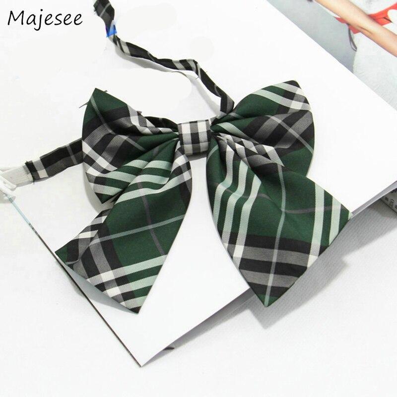 Женские Галстуки, простой классический галстук-бабочка, женский полосатый студенческий элегантный корейский стиль, подходит ко всему, на