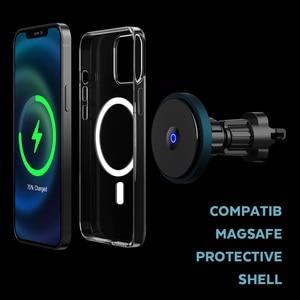 Image 4 - Bonola المغناطيسي سيارة لاسلكي للشحن ل iPhone12/12 برو/12 Mini/12 برو ماكس Magsafe سريع 15 واط سيارة لاسلكية حامل هاتف شاحن