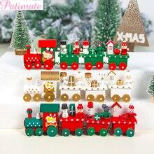 цена Merry Christmas Decorations For Home Painted Wood Christmas Train Christmas Ornaments 2019 Navidad Natal Toy New Year 2020 Decor в интернет-магазинах