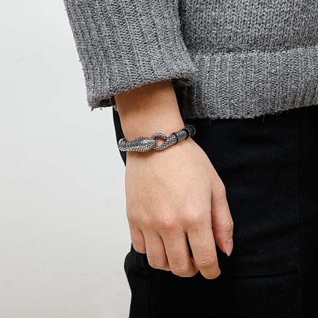 Bracelet rétro serpent chaîne en acier inoxydable 6