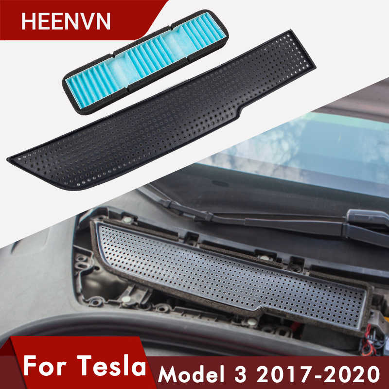 Heenvn Auto Air Flow Vent Cover Trim Auto Voor Tesla Model 3 Luchtfilter Accessoires Anti-Blocking Model3 Intake bescherming Drie
