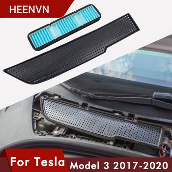 Heenvn Car Air Flow Vent Cover Trim Auto For Tesla Model 3 Air Filter Accessories Anti-Blocking Model3 Intake Protection Three