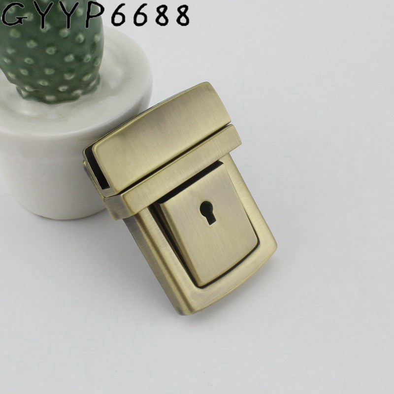 New 5sets High Quality Metal Pressed Big Lock With Key Briefcase For Genuine Leather Bag Making Plug Lock Hardware Accessories