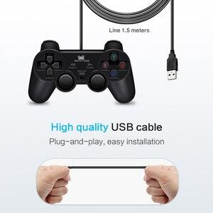 Image 4 - Dane żaba wibracji Joystick przewodowy USB PC kontroler dla komputer stancjonarny Laptop dla WinXP/Win7/Win8/Win10 dla Vista czarny Gamepad