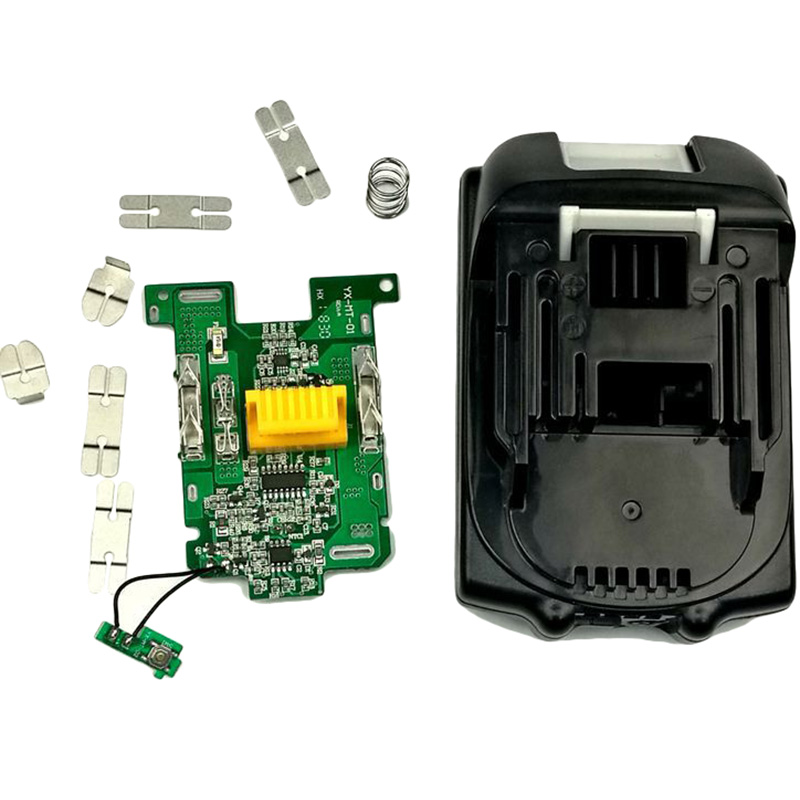 NEW-Bl1815 Pcb Circuit Board With Li-Ion Power Tools Battery Case Replacement For Makita 18V Bl1815 Bl1845 Bl1860 Lxt400 Plastic