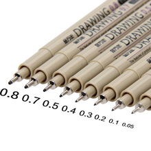 Stationery-Supplies Black Micron-Needle-Nib Sketch-Marker-Pen Calligraphy-Brush Drawing-Art