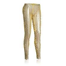Женские сексуальные эротические полые брюки из лакированной кожи прозрачные леггинсы с открытой промежностью сексуальный Стриптизер ткань для женщин Одежда для ночного клуба