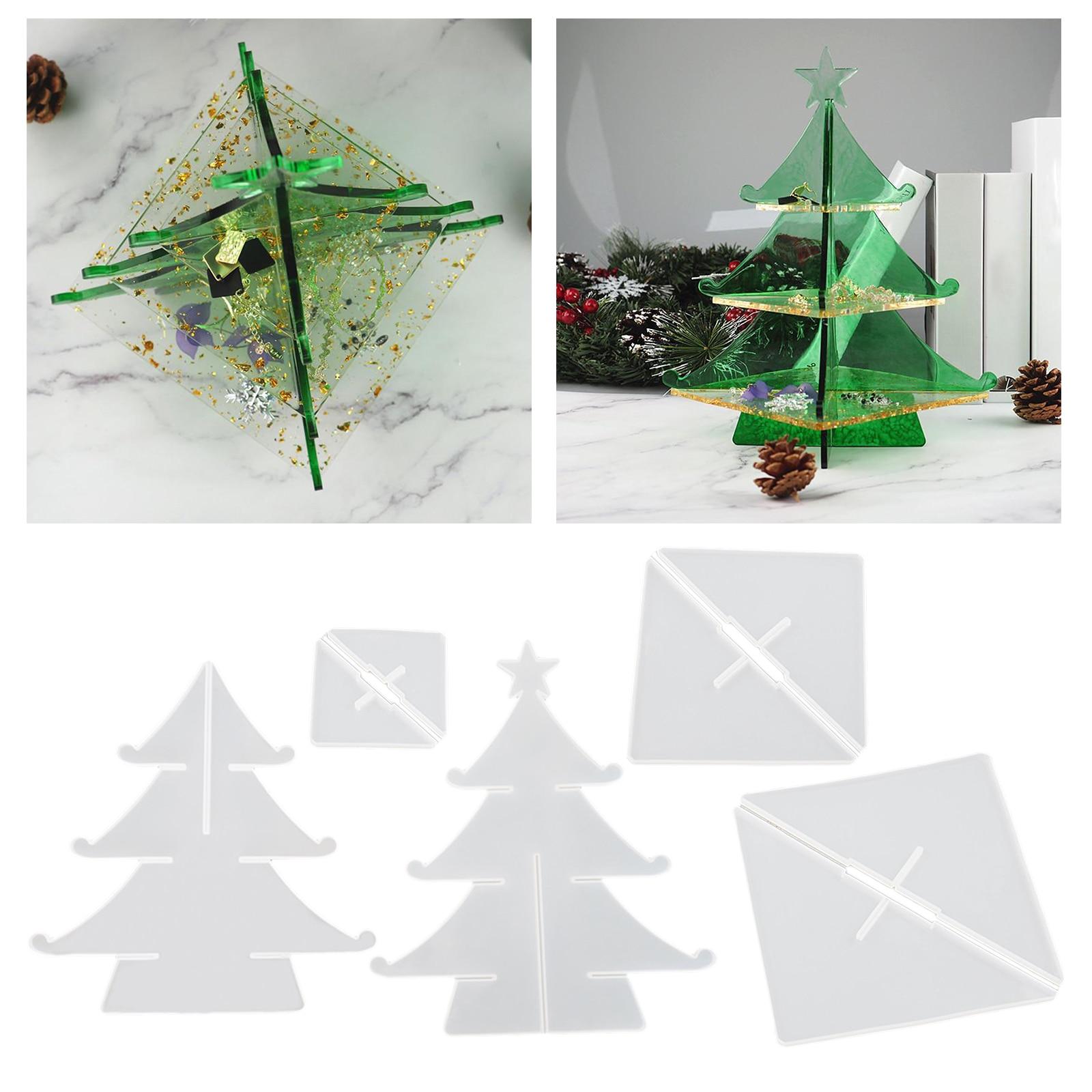 Прозрачная Рождественская форма дерева силиконовая смола художественные