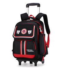 Fashion Designer Brand Primary Elementary Girls 2/6 Wheeled Trolley School Bags