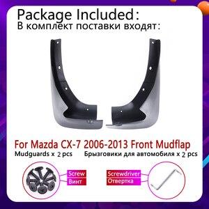 Image 2 - Avant Bavette pour Mazda CX 7 2006 ~ 2013 CX 7 CX7 Garde Boue Garde Boue Éclaboussures Bavettes Garde Boue Accessoires 2007 2008 2009 2010 2011 2012